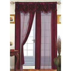 Shop for Tango Single Sheer Curtain Panel with Valance. Get free delivery On EVERYTHING* Overstock - Your Online Home Decor Outlet Store! Curtains With Attached Valance, Sheer Curtain Panels, Window Panels, Modern Window Treatments, Window Treatment Store, Room Darkening Curtains, Drapes Curtains, Curtain Room, Modern Windows