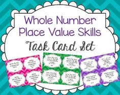 ***FREEBIE*** Help your students practice whole number place value relationships and mental math with this comprehensive task card set.  Perfect for 4th or 5th grade!