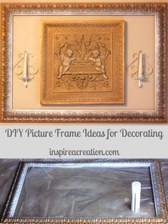 DIY Picture Frame Ideas for Decorating will inspire you to get crafty with your framing. #easy #DIY #crafts #picture #frame #decorating #repurpose #inspireacreation