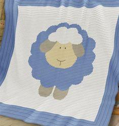 Crochet Pattern   Baby Blanket / Afghan - Sheep