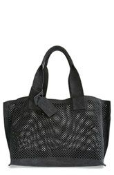 Pedro Garcia Perforated Suede Tote