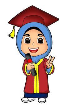 Sesaat Hijab Cartoon, Cartoon Boy, Sheep Cartoon, Graduation Cartoon, Graduation Pictures, Cute Cartoon Images, Cartoon Pics, Cartoon Download, Moslem