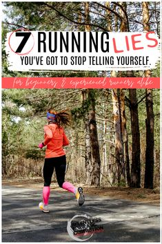 """Hey you, runner constantly talking down about yourself or pretending you defy the rules of exercise science. Yeah, you. I hear you saying things like: """"I'm not fast enough. I'll never be able to do that. That limp is nothing, it'll go away if I run through it."""" As a coach and fellow runner myself, I'm here to tell you that you're wrong. These are just a few examples of running lies you've got to stop telling yourself. And here's why Training Plan, Marathon Training, Strength Training, Running For Beginners, Running Tips, Physical Adaptations, Half Marathon Tips, Life Happens, Running Motivation"""