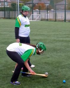In the sport of hurling and camogie, you need to keep two hands on your hurley -- unless you're a top-level player.