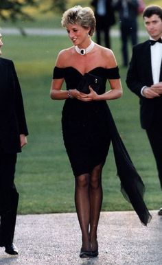 Princess Diana's Revenge Dress; she wore this dress designed by Christiana Stambolian to a party at the Serpentine Gallery on June 29, 1994, the day Prince Charles publicly admitted to committing adultery. The dress instantly became an icon and a seminal moment in the public life of the late princess.