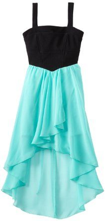 Amazon.com: Ruby Rox Kids Girls 7-16 High Low Color Block Dress: Clothing
