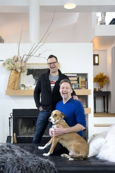 Name: Scott Duff, comic/radio host; Jerre Dye, playwright/opera librettist/actor/director, and dog Emmett Location: West Edgewater — Chicago, Illinois Size: 1,350 square feet Years lived in: 8 months; Owned Scott and Jerre's Chicago loft is just…WOW! It is more dramatic and inspiring than any home you've probably seen in a while. The soaring vaulted ceiling, crisp white floors, salvaged iconic furniture, and memorable artifacts are arranged and displayed for maximum theatrical impact by two…
