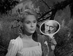 Victor Sjöström and Bibi Andersson in WILD STRAWBERRIES (1957) DP: Gunnar Fischer