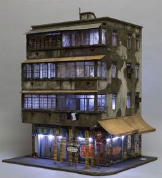 Artist Joshua Smith Creates Detailed And Miniaturized Buildings - p6design.net