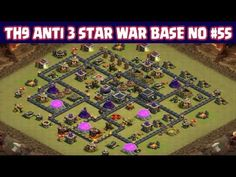 Clash of Clans | Town Hall 9 Anti 3 Star War Base | Layout 55