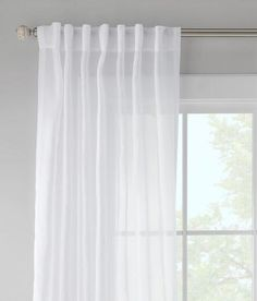 Paley Voile Back Tab Curtains - White | Prospect + Vine