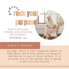 Learn about the process of realigning with your true north and your purpose, and activating your deeper purpose within you— your soul contract in this episode of the Rock Your Purpose Podcast with Emily Perry. Podcast Topics, Soul Contract, Purpose Driven Life, Starting A Podcast, Leadership Coaching, True North, On Today, Coaches, Mindset