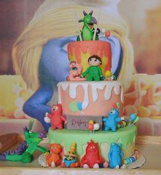 Σπιτική τούρτα γενεθλίων, με θέμα baby tv, για την μικρή μου!! Aγκαλίτσες, Μπόμπος και Μπέλα, Χένρι, Τσάρλι και 2 και φυσικά Δράκο! Baby tv themed homemade birthday cake for my daughter's 2nd birthday!! the cuddlies, Henry, Billy & Bam bam, Charlie with two anda Draco