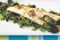 Yum! Flathead Fillets with Roasted Baby Beetroot & Walnuts - body+soul