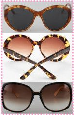 cateye and round sunglasses