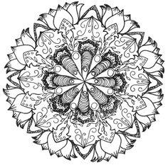 Mandala Abstract Doodle Zentangle Coloring pages colouring adult detailed advanced printable Kleuren voor volwassenen coloriage pour adulte anti-stress kleurplaat voor volwassenen
