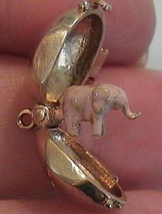 14k Gold RARE Vintage Rum Bottle Charm Pink Elephant | eBay