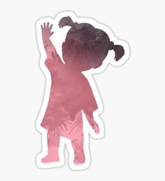'Girl Inspired Silhouette' Sticker by InspiredShadows
