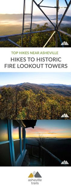 Hike these gorgeous trails through scenic forests and mountain summits to historic fire lookout towers, and score some of the most beautiful views in Western North Carolina. #hiking #trailrunning #backpacking #asheville #nc #northcarolina #travel #outdoors #adventure