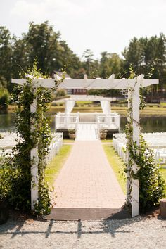 Outdoor Ceremony I Sweet SaraBell Ceremony Arch, Wedding Ceremony Decorations, Wedding Bells, Wedding Venues, Wedding Planning Pictures, Wedding Ideas, Wedding Stuff, Wedding Inspiration, Aisle Runner Wedding