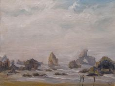 Plein Air Ecola Beach 2 --from RachelSteely.com