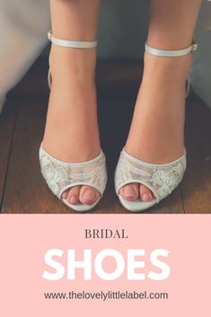 The Lovely Little Label Lace Bridal Shoes, Gold Wedding Shoes, Wedge Wedding Shoes, Bridal Sandals, Umbrella Wedding, Wedding Umbrellas, Vintage Style Shoes, Velvet Shoes, Little White Dresses