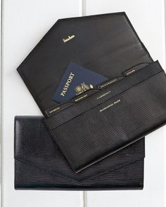 Travel wallet with labeled sections - passport, boarding pass, ID http://rstyle.me/n/ui5rhnyg6