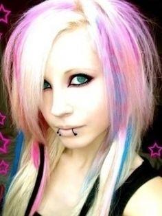 Crazy blonde emo teen you