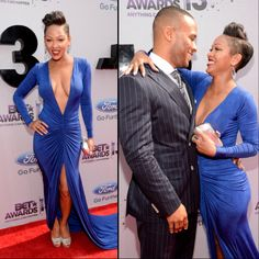 Meagan Good Responds To Critics Of Her Blue Breast Dress | Reality Wives