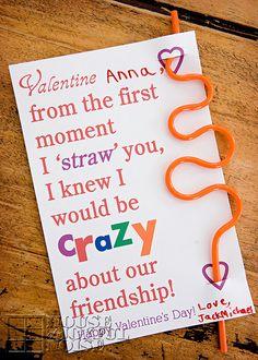 Printable Valentines (free): Crazy Straws, Socks and Guitar Picks