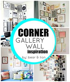 corner gallery wall: inspirations