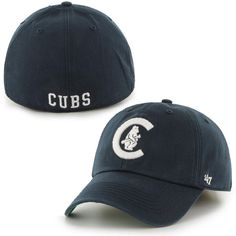 Mens Chicago Cubs '47 Brand Navy Blue Franchise Cooperstown Collection Fitted Hat | MLB.com Shop