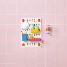 LÅDDAN ophangbord | IKEAcatalogus nieuw 2018 IKEA IKEAnl IKEAnederland badkamer kinderen handig kleur tandenpoetsen spiegel