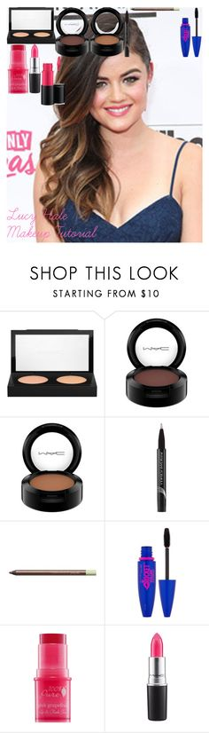 """Lucy Hale Makeup Tutorial"" by oroartye-1 on Polyvore featuring beauty, MAC Cosmetics, Physicians Formula, Pixi and Maybelline"