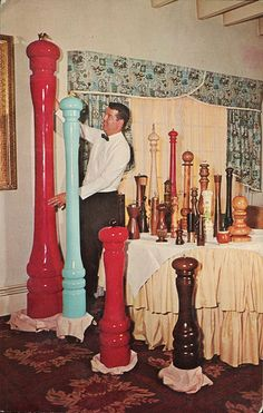 World's Largest Collection of Unique Pepper Mills, Minuet Manor Motor Hotel, Altoona PA