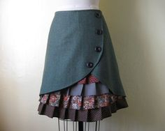 Layered skirt....believe it or not, if I was about 50lbs lighter and had the right shirt...I'd LOVE this...