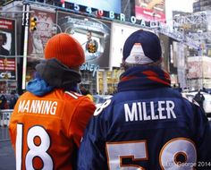 Broncos fans hit Super Bowl Boulevard in #NYC #TimesSquare