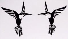 Pair Hummingbirds Tropical Sexy Car Truck Window Vinyl Decal Sticker 12 COLORS #TheStickerEmporium