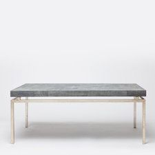 coffee table | Made Goods   Shagreen Top & Metal Base.  Multiple finishes.