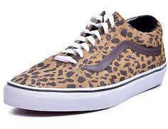 Vans Old Skool Leopard Suede Low Top Skateboard Shoes