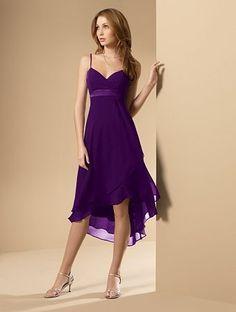 purple brides maids dresses
