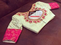 Finest floral blouses saree Read more about White Blouse Designs, Saree Blouse Neck Designs, Bridal Blouse Designs, Sari Blouse, Maggam Work Designs, Designer Blouse Patterns, Blouse Styles, Embroidered Blouse, Fashion Blouses