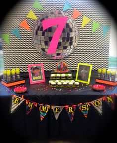 Cool disco retro party!  See more party ideas at CatchMyParty.com!