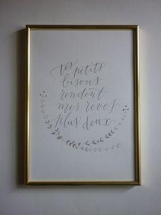 Affiche calligraphie à imprimer, décoration, citation,romantique : Décorations murales par sophie-p
