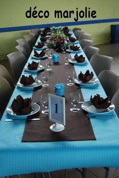 1000 id es sur fleurs bleues de tables sur pinterest v nements sp ciaux mariages bleu clair - Deco marron et bleu ...