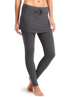 Organic Cotton 2 in 1 Exhale Tight - The 100% organic cotton skirt-plus-legging perfect for the yogi seeking a more mindful practice (and a little more coverage).