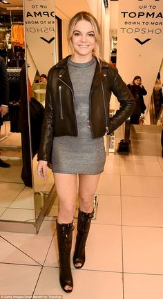 Stylish appearance: The X Factor 2015 winner Louisa Johnson caused a stir at the Oxford Circus branch of Topshop in London on Thursday evening as she attended a fashion event