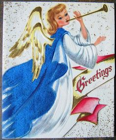 Check out Angel Girl Horn Flocked Blue Gown Embossed Vintage Christmas New Years Card USA  http://www.ebay.com/itm/Angel-Girl-Horn-Flocked-Blue-Gown-Embossed-Vintage-Christmas-New-Years-Card-USA-/151892471737?roken=cUgayN&soutkn=TQqNXR via @eBay