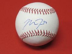 Mike Trout authentic hand signed autographed baseball MLB hologram +COA! Rookie of Year? MVP?