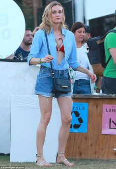 Light relief: Diane appeared to blow off some steam after celebrating her film Maryland be... Diane kruger
